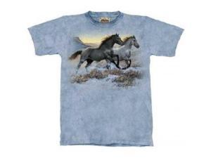 The Mountain Running Free Horse Pony Short Sleeve Tee T-shirt Child S