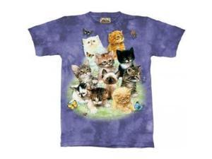 The Mountain 10 Kittens Cats Tee T-shirt Child XL
