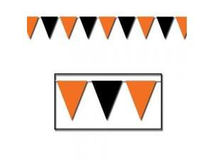 Orange & Black Outdoor Pennant Banner Party Accessory (1 count) (1/Pkg)