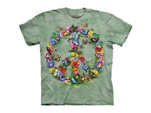 Butter Dragon Peace T-Shirts 100% Cotton Short Sleeved Shirt (Youth Large)