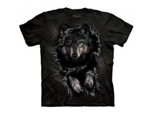 The Mountain Break Through Wolf Adult T-shirt 5XL