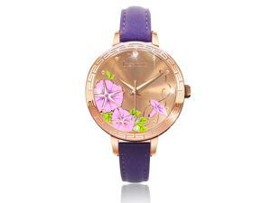 Ingenuity NCL0009-10 Engagement with Time - The Twelve-Month Flora Series Watch Collection - October