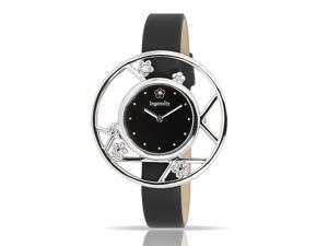 Ingenuity NCT0006s Women's Watch Classic Series  - Interchangeable Black Leather Straps - Silver Black