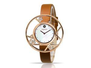 Ingenuity Women's NCT0006-1s_G Rose Gold Stone Watch With Interchangeable Leather Straps - Plum Blossom