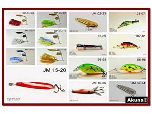 Akuna Pack of 15 Lures for Bass fishing in each of the 50 states