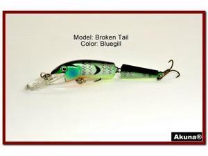 """Akuna Broken Tail 3.9"""" Topwater Jointed Fishing Lure"""