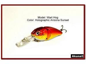 """Akuna Wart Hog 3.4"""" Diving Jointed Fishing Lure"""