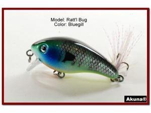 "Akuna Ratt'l Bug 2.6"" Crankbait Fishing Lure"