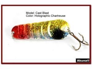 "Akuna Cast Blast 3"" Spoon Fishing Lure"