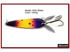 "Akuna Willy Blade 3"" Spoon Fishing Lure with 2 Side Spoons"