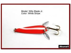 "Akuna Willy Blade Jr. 2.25"" Spoon Fishing Lure with 2 Side Spoons"