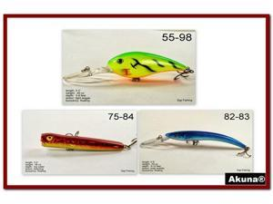 Akuna Pack of 3 Crankbait Lures for Bass fishing in each of the 50 states