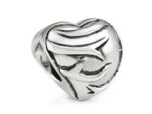 Genuine Ohm Beads (TM) Product. 925 Sterling Silver Heart & Thorns European Bead Charm.