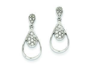 Genuine 14K White Gold Diamond Post Earrings 2.1 Grams of Gold