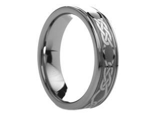 6 mm Mens Tungsten Carbide Rings Engraved Celtic - Includes Engraving - Size 4 - 13