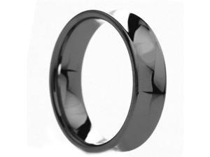 6 mm Mens Tungsten Carbide Rings Polished Concave - Includes Engraving - Size 4 - 12.5
