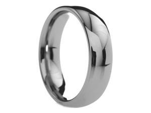 6 mm Mens Tungsten Carbide Rings Classic Polished Round - Includes Engraving - Size 4 - 14