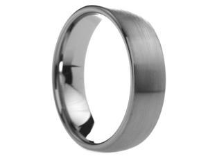 6 mm Mens Tungsten Carbide Rings Rounded Brushed Finish - Includes Engraving - Size 4 - 13
