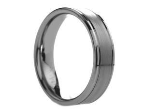 6 mm Mens Tungsten Carbide Rings Dual Grooved - Includes Engraving - Size 4 - 14