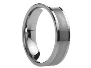 6 mm Mens Tungsten Carbide Rings Brushed Center - Includes Engraving - Size 5 - 13