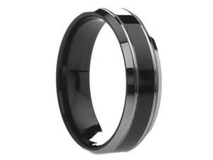 6 mm Mens Tungsten Carbide Rings Black Center  - Includes Engraving - Size 4 - 12.5