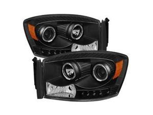 xTune PRO-JH-DR06-LED-BK Halo Projector Headlights-Black 9028328
