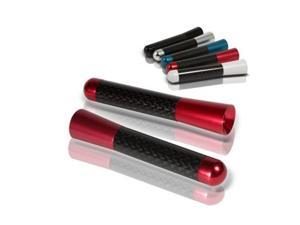 Spyder Auto Carbon Fiber Antenna 3 Inch - Red 5013781