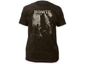 David Bowie Guitar Fitted Jersey T-Shirt Medium