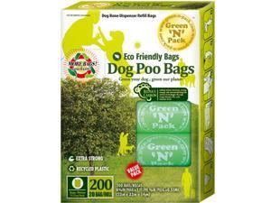 Green 'N' Pack Eco Friendly Green Bone Dispenser Refill Bags, 200 counts