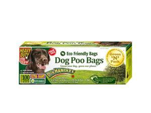 Green N Pack Eco Friendly Extra Giant Heavy Duty Dog Waste Bags (with convenient handle ties), Value Pack, 100-Count