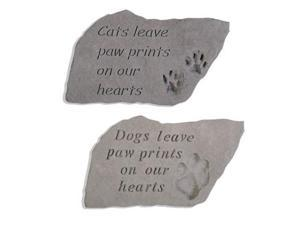 Memorial Stone - Cats Leave Pawprints on Our Hearts