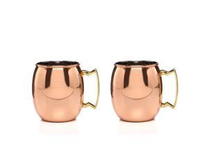 Moscow Mule Solid Copper Mug 18oz (Twin Pack)