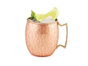 Moscow Mule Solid Copper Mug 16 oz -Hammered