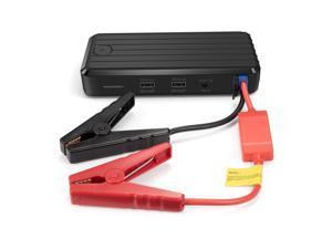 RAVPower Portable Car Jump Starter Power Bank w/12,000 mAh Capacity 500 Amp Boost, 1A & 2A iSmart USB Charging Ports, LED ...