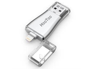 HooToo iPhone Flash Drive 32GB USB 3.0 Adapter with Lightning Connector for iPad iPod iOS & PC, External Storage Memory Stick, iPlugmate