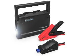 RAVPower 18000mAh Car Jump Starter with Car Cigarette Lighter 600A Output Peak Current External Battery Pack (Dual iSmart 2.0 ...