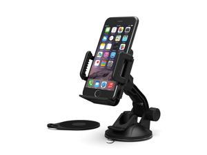 TaoTronics Car Phone Mount Holder for Windshield and Dashboard - Extra Sticky Pad, Adjustable Viewing Angle, Suitable For Smartphone