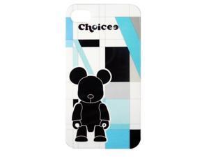 CHOICEE X QEE IPHONE4 FACEPLATE STRIPE BLUE BLACKBEAR (RETAIL)
