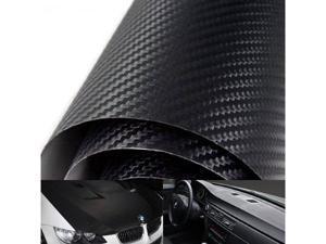 "24"" x 48"" 3D Twill Weave Glossy Black Carbon Fiber Vinyl Sheet"