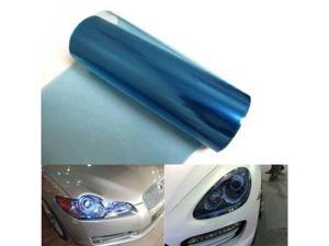 12 by 48 inches Self Adhesive 20% Dark Blue Headlight, Tail Lights, Fog Lights Tint Vinyl Film