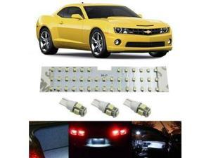 iJDMTOY 57-SMD 4-Piece Vehicle Specific Exact Fit Full LED Interior Light Package For Chevrolet Camaro, Xenon White