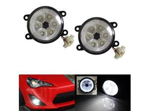 18W High Power 6-LED Fog Light Lamps w/ LED Halo Rings For Scion FRS Subaru BRZ