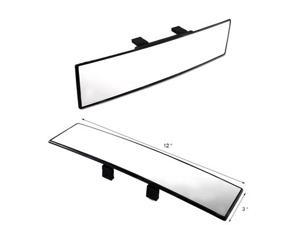 iJDMTOY AA2005 300mm Wide Curve Interior Clip On Car Rearview Mirror