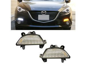 iJDMTOY Exact OEM Fit 22-LED High Power Switchback LED Daytime Running Lights/Turn Signal Lamps For 2014 and up Mazda 3 Axela