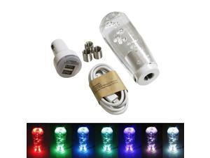 iJDMTOY (1) Lava Lamp Air Bubble Style RGB LED Illuminated Shift Knob Universal Fit For Car Truck