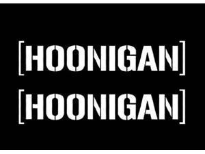 (2) iJDMTOY Cool JDM Fiesta HOONIGAN Ken Block Hater Car Die-Cut Decal Vinyl Sticker