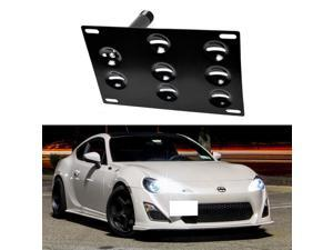 JDM Style Front Bumper Tow Hole Adapter License Plate Mounting Bracket For 2013-up Scion FR-S Subaru BRZ and 2015-up Subaru WRX
