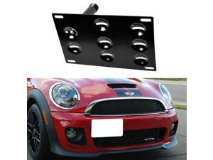 Front Bumper Tow Hole Adapter License Plate Mounting Bracket For 2002-2014 MINI Cooper (Excluding Countryman and Paceman)