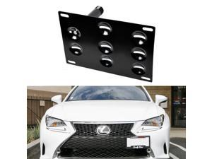 Front Bumper Tow Hole Adapter License Plate Mounting Bracket For Lexus GS LS RC RX