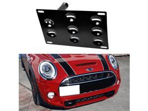 Front Bumper Tow Hole Adapter License Plate Mounting Bracket For MINI Cooper Countryman Paceman and F55 F56 Cooper